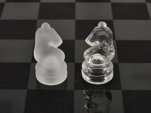 Etched Glass Chess Piece