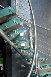glass stairs
